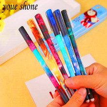 High quality 6piece/lots cartoon series Star Meng lovely looking smooth writing 0.38mm blackneutralpen student activities(China)