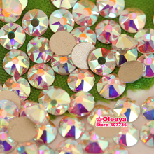ss16 ss20 ss30 Excellent Top Quality Clear AB Nail Rhinestone Flatback Non Hotfix Rhinestones 2088 Cut Facets Y3623