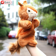 Wiben Squirrel vole Plush Hand Puppets Animal Model Classic Children Finger Doll Baby Story Telling Early Educational Toy Gift