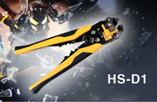 HS-D1 AWG24-10 (0.2-6.0mm2 ) design Multi functional Cable wire Stripping, Cutting and Crimping tools Wire stripper(China)