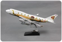 Brand New 1/150 Scale Airplane Model Toys Thai Airways Boeing B747 Dragon-boat Pattern 47CM Resin Plane Model Toy For Decoration