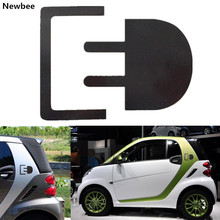 Newbee 15cm Waterproof Car Sticker Electric Charge Logo Plug Emblem Badge Decal PVC Vinyl For Benz Smart Fortwo Forfour Brabus(China)