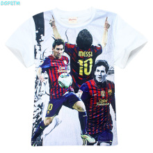 New Boy Barcelona t shirt Children clothing short sleeve tees teen age baby Real clothing summer Mess tops T-shirt Football star(China)