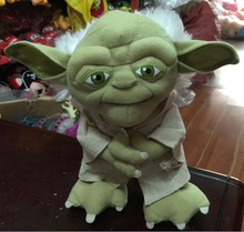 20cm cute soft plush green Master Yoda toy doll, stuffed Movie Star Wars roll toy,creative graduation & birthday gift for kids