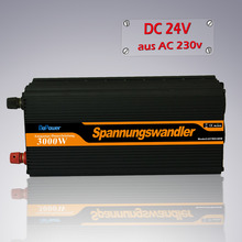DC 24V to AC 220V 230V 3000w(peak 6000w)  modified sine wave power inverter with wired remote controller