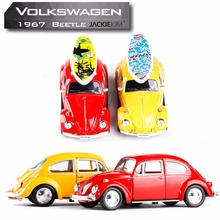 New RMZ city 1:32 1967 Volkswagen Beetle Car Diecast Metal Alloy Car Model Toy With Pull Back For Kids Toys Gifts Free Shipping(China)