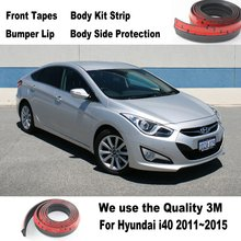 Car Bumper Lips For Hyundai i40 2011~2015 / Body Kit Strip / Front Tapes Body Chassis Side Protection