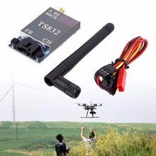 Black 5.8G 40 Channels 600MW 2db Gain FPV Image AV Transmitter System TS832(China)