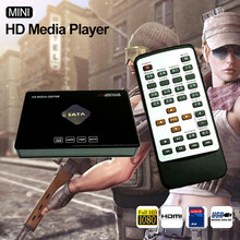 HOT Mini Full HD Media Player 1080p USB External HDD SD U Disk Disco Duro Multimedia HDD With HDMI Output Media Player