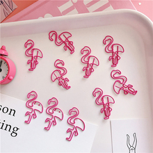 5 pcs/lot Beautiful Pink Flamingo bookmark planner paper clip material escolar bookmarks for book stationery school supplies(China)