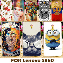Phone Case For Lenovo S860 5.3 inch S 860 Cell Phone Cover Protective Shell Funda Carcasa Painting design Hard Plastic Coque
