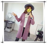 Long-Sleeve-Sweater-Spring-Autumn-2018New-Fashion-Long-Knitted-Cardigan-Coats-Rivet-Split-Casual-Slim-Sweater