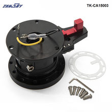 TANSKY -STEERING WHEEL BLACK QUICK RELEASE TILT SYSTEM JDM RACE/RACING TK-CA15003(China)