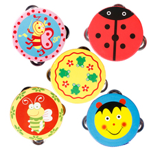 2017 Cute New Cartoon Pattern KidS Toy Handbell Tambourine Rattle Draw Children Attention YH-17(China)