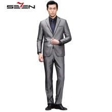 Seven7 Brand Men Fashion Dress Suits 2 Pieces(Jacket an Pant)Regular 1 Button Front Suit Twill Wedding Suits Sets 703C1294