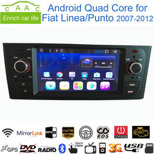 "Android 6.0.1 Quad Core GPS Navi Stereo 6.1"" Car DVD Multimedia for Fiat Linea/Punto 2007-12 with Radio/BT/RDS/CANBUS/WIFI/3G"