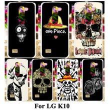 Hard Plastic Soft TPU Silicon Phone Case For LG K10 LTE K430 M2 F670 K430DS K420N F670L F670K Cover Skull Head Naruto Shell Skin