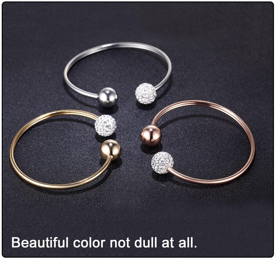 Gold Bracelets Bangles Stainless Steel (5)