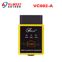 Good quality Viecar VC002-A Elm327 V1.5 Bluetooth 2.0 consumption OBD SCAN elm 327 OBDII Diagnostic Tool Work On Android