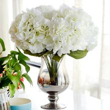 Artificial Flower Hydrangea Bouquet 5 Heads Silk Flower Real Touch Fake Flower For DIY Home Wedding Decoration Floral(China)