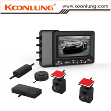 Car DVR of Koonlung K1S Dual Cameras 1080P HD Pictures with Small Unit and Upgrade Version with OV2715 Sensor Extra Cable Clip