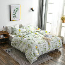 Bright Flower Printing Duvet Cover Set Pastoral Style Bedding Sets Queeen Size 2/3 pcs Soft Comfortable Bed Covers BedLinen(China)