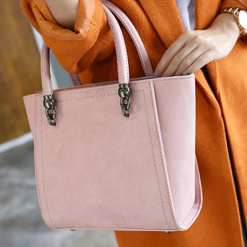 New Autumn And Winter Nubuck Leather Women Top-Handle Bags Fashion Female High Quality Women Messenger Bag Medium Handbag<br><br>Aliexpress