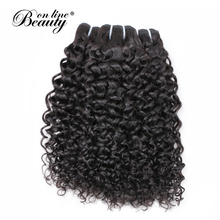 Beauty On Line Hair Natural Color Water Wave Mongolian Hair Bundles Weave 1 Piece Only Deals 100% Remy Human Hair Extensions