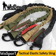 WOSPORT Military Safety Lanyard Strap Rope Quick Release Line Climbing Rope Tactical Protective Sling for Outdoor hunting