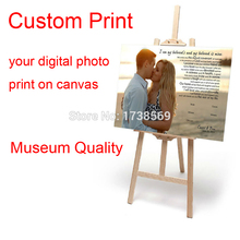 Your picture, Family, friends, Baby Photo, Favorite Image Custom Canvas Print Your Photo on Canvas Museum Quality Free Shipping(China)