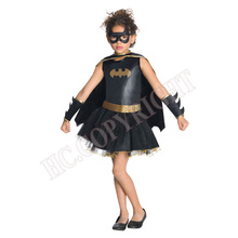 Girls Batman Superhero Halloween Cosplay Costumes Batgirl Fantasia Vestido Fancy Tutu Dress Kids Disguise Carnival Party Outfit