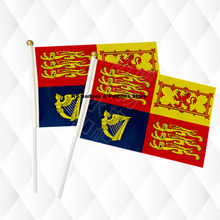 British Royal family Islands Hand Held Stick Cloth Flags Safety Ball Top Hand National Flags 14*21CM 10pcs a lot(China)