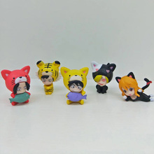 One Piece 5pcs/set Mini Action Figures Luffy Nami Ace Sanji Law Cos Cat PVC figure Toys Brinquedos Anime 4CM(China)