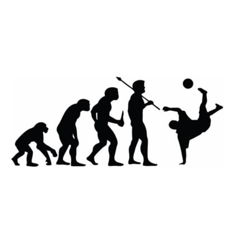 Evolution Football Player Sticker Sports Soccer Car Decal Helmets Kids Room Name Posters Vinyl Wall Decals Football Sticker