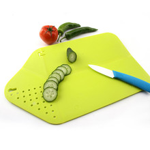 Cutting Board Plus Colander 2 in 1 Chopping Board with Integrated Strainer()