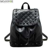 2017 Summer Washed Leather Shoulder Bag Fashion Korean Female Mini Rivet Backpack Teenage Girl Mochila Escolar Women Backpacks