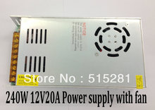 240W 12V20A Switching Power Supply, Adapter with Fan for Project Transformers in steel box