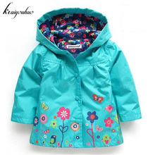 keaiyouhuo 2017 Autumn Baby Girls Jacket For Girls Windbreaker Jacket Kids Raincoat Girls Trench Coat Children Outerwear Clothes