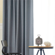 CITYINCITY Blackout Curtains for Living room Rideaux Drapes Modern Faux Linen Korean Style Window Curtain for Bedroom Customized(China)