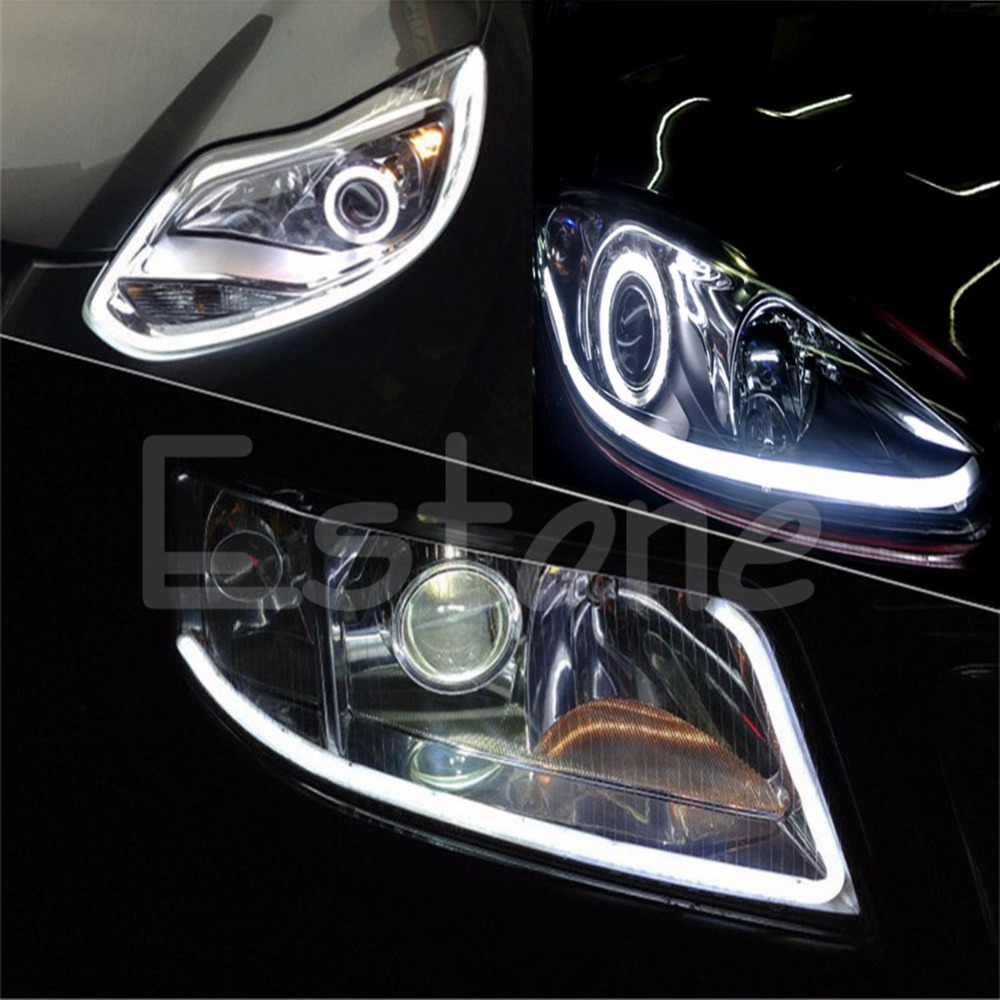2X 30cm Flexible Car Soft Tube Guide LED Strip Lamp DRL Daytime Running Light Auto Lamp<br><br>Aliexpress