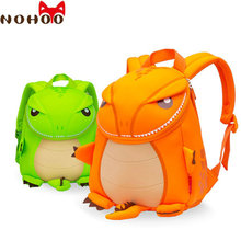 NOHOO Dinosaur Orange/Green Backpack Children Waterproof Neoprene Orthopedic School Bags for Girls Boys High Quality Kids Bag-35