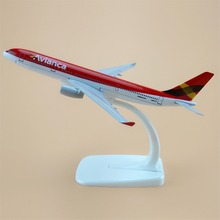 16cm Alloy Metal Air Avianca Airlines Airplane Model Airbus 330 A330 200 Airways Plane Model w Stand Aircraft Gift(China)