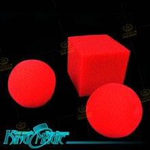 Ball Block Street Magic Tricks Free Shipping Props Toys Sponge Balls Change To Square