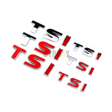 TSI Metal Car Emblem Badge Car Styling Sticker For Volkswagen VW Polo Golf 4 5 6 Passat B5 B6 Touran Bora Tiguan Jetta Beetle CC