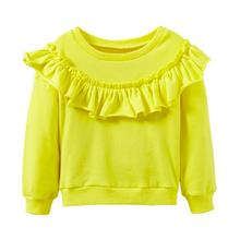 KLV Baby Girls Long Sleeve Solid Soft Toddler Kids Tops T-Shirt Warm Clothes sweatshirt for girls baby girl clothes Drop Shoping(China)