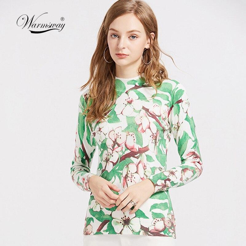 Wholesale Super Soft Jumper 2018 Autumn Cartoon Sweater Women Pullover Basic Knitwear Half Stand Collar High Elastic B-059