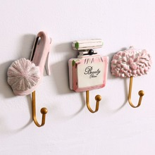 3pcs/set American Creative Bag Key Hat Towel Hook Resin Wall Hook Large Coat Hooks Clothes Hanging Robe Hook Fashion Home Decor(China)
