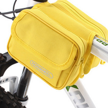 Hot Sell! Mountain Bike Bags Bicycle Cycling Bags Frame Case Saddle Bicycle Panniers Tube Bag Bicycle Accessories 5-Color BG0009(China)