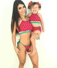 Family Matching Swimwear Mother and daughter Swimming Clothing Watermelon Family look Mom and Daughter Swimwear clothes outfits(China)