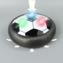 Colorful LED Light Flashing Ball Toys Air Power Soccer Disc Gliding Floating Football Game Indoor Toy Kids Christmas Gift Toys
